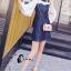 ชุดเดรสเกาหลี พร้อมส่งเดรสยีนส์ เย็บต่อลูกช่วงอก thumbnail 4