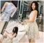ชุดเดรสเกาหลีพร้อมส่ง เดรสผ้าเครปสีขาวครีมและกระโปรงผ้าลูกไม้สีพาสเทล thumbnail 5