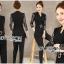 เสื้อผ้าเกาหลี พร้อมส่งจัมป์สูทสีดำตกแต่งลูกไม้สไตล์สมาร์ทแคชชวล thumbnail 11