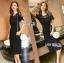 Diana Vintage Feminine Black Lace Pleated Dress thumbnail 5