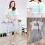 เสื้อผ้าเกาหลีพร้อมส่ง เสื้อแต่งสกรีนลายเดียวกับกระโปรง thumbnail 7