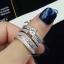พร้อมส่ง Diamond Ring งานเพชร CZ แท้ ดีไซส์เพชรปาเกตเพชรชูไซว์ 1 กะรัต thumbnail 2