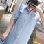 เสื้อผ้าเกาหลี พร้อมส่งAzura Skyblue Shirt + Embroidered Luxury Skirt thumbnail 10