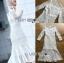 ชุดเดรสเกาหลี พร้อมส่งเดรสผ้าลูกไม้สีขาวตกแต่งระบายสุดหรู thumbnail 9