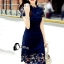 ชุดเดรสเกาหลี พร้อมส่งMini dress ลูกไม้แจนสั้นเนื้อถัก thumbnail 6