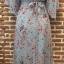 ชุดเดรสเกาหลีพร้อมส่ง เดรสลายดอก ผ้าเป็นผ้าชีฟอง ทรงเสื้อคลุม thumbnail 9