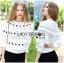 เสื้อผ้าเกาหลี พร้อมส่งจัมเป็นสีขาวตกแต่งผ้าลูกไม้โครเชต์ thumbnail 12