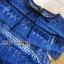 ชุดเดรสเกาหลี พร้อมส่งเดรสผ้าลูกไม้สีฟ้าตกแต่งโบสไตล์ Self-Portrait thumbnail 13