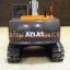 โมเดลรถก่อสร้าง ATLAS 225LC EXCAVATOR 1:50 BY NZG thumbnail 6