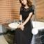 Diana Vintage Feminine Black Lace Pleated Dress thumbnail 2