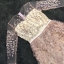 ชุดเดรสเกาหลี พร้อมส่งPastel Purple Embroidered Feathers Luxury Dress thumbnail 8