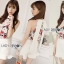 เสื้อผ้าเกาหลี พร้อมส่งLady Emily Floral Printout set thumbnail 3