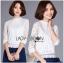 เสื้อผ้าเกาหลี พร้อมส่งเสื้อลูกไม้สีขาวผ้านิ่มใส่สบาย thumbnail 1