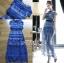 ชุดเดรสเกาหลี พร้อมส่งเดรสผ้าลูกไม้สีฟ้าตกแต่งโบสไตล์ Self-Portrait thumbnail 10