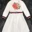เสื้อผ้าเกาหลี พร้อมส่งเชิ้ตแนวเดรส สีขาวลายใหม่ผลิตออกมาให้ สวยเด่น thumbnail 13
