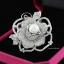 พร้อมส่ง Diamond Brooch เข็มกลัดดอกกุหลาบประดับมุก thumbnail 2