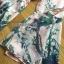 ชุดเดรสเกาหลี พร้อมส่งเดรสผ้าวิสโคสสีชมพูพิมพ์ลายธรรมชาติ thumbnail 11