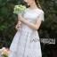 ชุดเดรสเกาหลี พร้อมส่งเดรสผ้าลูกไม้สีขาวสไตล์คลาสสิกสุดหวาน thumbnail 2