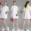 เสื้อผ้าเกาหลี พร้อมส่งเดรสเชิ๊ตคอปก ผ่ากระดุมหน้าครึ่งตัว thumbnail 7