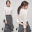 เสื้อผ้าเกาหลี พร้อมส่งเสื้อขาวทรงน่ารักๆ thumbnail 6