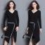 ชุดเดรสเกาหลี พร้อมส่งCoCo Stylish Luxury Dress thumbnail 6