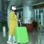 ผ้าคลุมกระเป๋าเดินทาง ผ้ายืด สีเรียบ thumbnail 8
