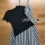 เสื้อผ้าเกาหลี พร้อมส่งเซ็ตเสื้อยืดแขนสั้นสีดำพร้อมเอี๊ยมกระโปรงยาวลายทาง thumbnail 13