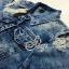 เสื้อผ้าเกาหลี พร้อมส่งJacket ยีนส์สีฟอกรุ่นนี้ thumbnail 6
