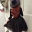 ชุดเดรสเกาหลี พร้อมส่งCendrillon Pricess Black Dress thumbnail 9