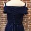 ชุดเดรสเกาหลี พร้อมส่งNavy Diamond Extra Luxury Dress thumbnail 9