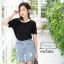 เสื้อผ้าเกาหลีพร้อมส่ง กระโปรงยีนส์เอวสูงแต่งริบบิ้นเพิ่มความน่ารักเกร๋ๆ thumbnail 2