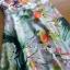 ชุดเดรสเกาหลี พร้อมส่งเดรสยาวผ้าซาตินพิมพ์และปักลายดอกไม้ thumbnail 11