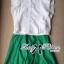 ( พร้อมส่งเสื้อผ้าเกาหลี) เซ็ตเสื้อชีฟอง-กระโปรงบานสีเขียวสุดขิค ตัวนี้ดูหรูหรามากๆ เสื้อชีฟองเรียบหรู classic มาพร้อม กระโปรงสีเขียว forest green ทรงบานดูสดใส สวยใส่สบาย ช่วงเอวคาดแถบสีขาว thumbnail 9