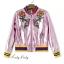 เสื้อผ้าเกาหลี พร้อมส่งGucci Jackets แจ๊คเก็ตสุดแนว วิ้งๆสีเด่นสวย thumbnail 9