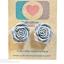 ต่างหูพลาสติก,ต่างหูก้านพลาสติก,ต่างหูเด็ก E29003 The Grey Flowers ต่างหู ราคาถูก thumbnail 1