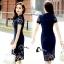 ชุดเดรสเกาหลี พร้อมส่งMini dress ลูกไม้แจนสั้นเนื้อถัก thumbnail 10