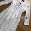 ชุดเดรสเกาหลี พร้อมส่งเดรสผ้าคอตตอนสีขาวปักลายดอกไม้สไตล์ลำลองสุดหวาน thumbnail 7