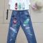 เสื้อผ้าแฟชั่นเกาหลีพร้อมส่ง เสื้อยืด+กระโปรงยีนส์ขาสั้น thumbnail 4