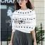 เสื้อผ้าเกาหลี พร้อมส่งจัมเป็นสีขาวตกแต่งผ้าลูกไม้โครเชต์ thumbnail 6