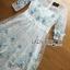 ชุดเดรสเกาหลี พร้อมส่งเดรสยาวผ้าทูลเลปักผีเสื้อสีฟ้า3D สไตล์เจ้าหญิง thumbnail 5
