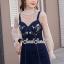 เสื้อผ้าเกาหลีพร้อมส่ง Pinky Flora Stick Cami Denim Dress Set thumbnail 1