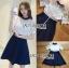 ชุดเดรสเกาหลี พร้อมส่งเดรสผ้าลูกไม้สีขาวและกระโปรง thumbnail 7