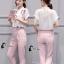 เสื้อผ้าเกาหลี พร้อมส่ง Cat Walk Top + Pinky Pant Set thumbnail 2