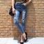 เสื้อผ้าเกาหลีพร้อมส่ง กางเกงยีนส์เอวสูงทรงสกินนี่ สไตล์ Zara thumbnail 2