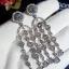 พร้อมส่ง Apm long diamond earring งานเกรดแพงที่สุดฝังแบบMircosetting thumbnail 2