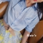 เสื้อผ้าเกาหลี พร้อมส่งกรี๊ดหนักมาก กับชุด Set เสื้อเชิ๊ตคอปกทรงยาวสีฟ้าสดใส thumbnail 11