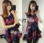 Colourful Embroidered Mini Dress thumbnail 6