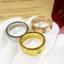 พร้อมส่ง Love4 diamond Ring แหวนรุ่นLOVE เพชร4เม็ด ฝังCZ8A thumbnail 2