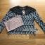เสื้อผ้าเกาหลีพร้อมส่ง เสื้อแขนยาวผ้าลูกไม้สีขาว-ดำพร้อมเกาะอกสีนู้ด thumbnail 12