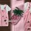 เสื้อผ้าเกาหลี พร้อมส่งPinky Pineapple Bibby Set thumbnail 5